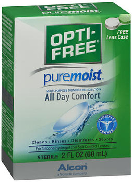 Opti-Free Puremoist Multi-Purpose Disinfecting Solution - 2 oz
