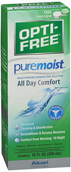 Opti-Free Puremoist Multi-Purpose Disinfecting Solution - 10 oz