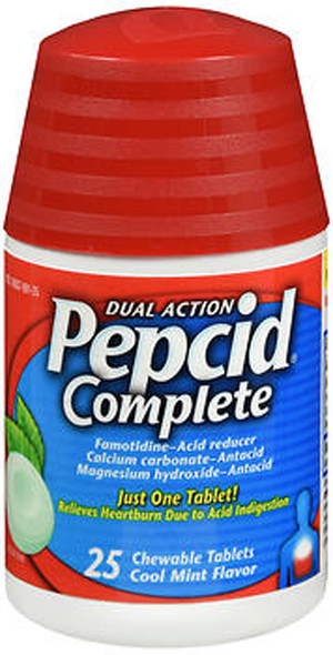 Pepcid Complete Tablets Cool Mint Flavor - 25 ct