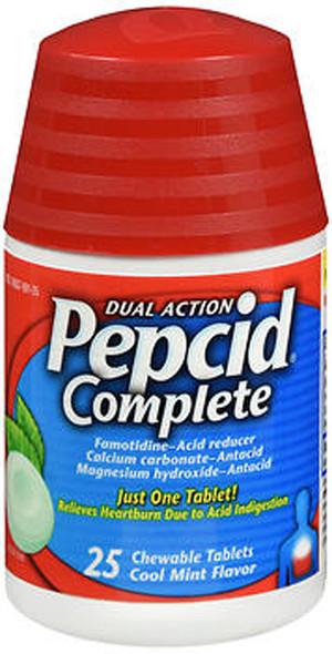 Pepcid Complete Tablets Cool Mint Flavor - 25 ct