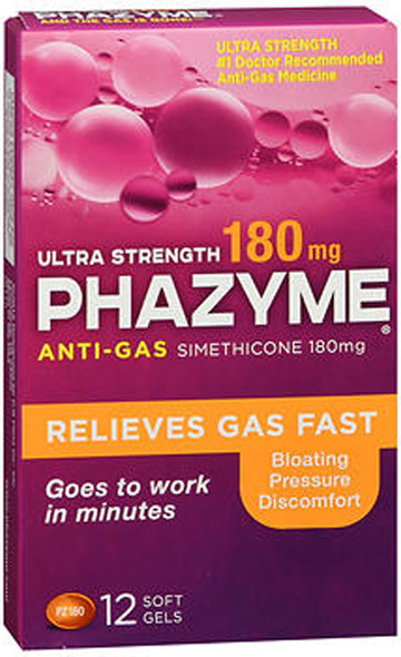Phazyme Ultra Strength 180 mg Softgels -12 ct