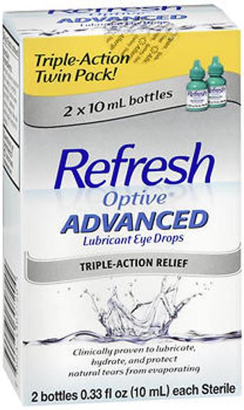 Refresh Optive Advanced Lubricant Eye Drops - 0.66 oz