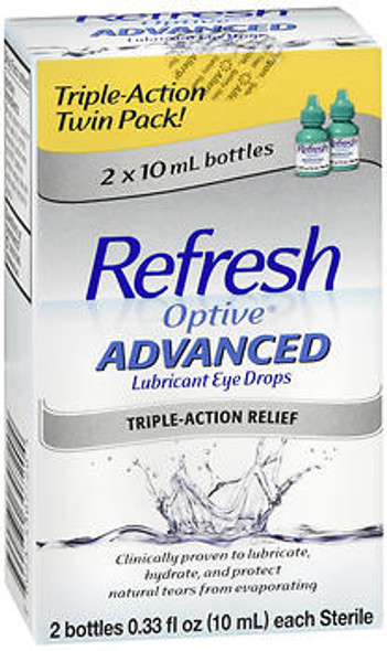 Refresh Optive Advanced Lubricant Eye Drops - 0.66 oz