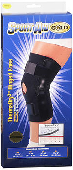 Sport Aid Gold ThermaDry3 Hinged Knee Large - 1 ea.