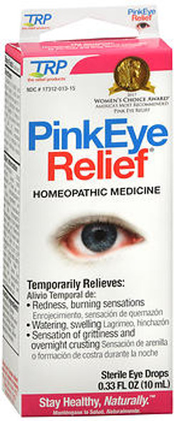The Relief Products Pink Eye Relief Homeopathic Sterile Eye Drops - 0.33 oz