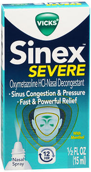 Vicks Sinex 12 Hour Decongestant Nasal Spray - 0.5 oz