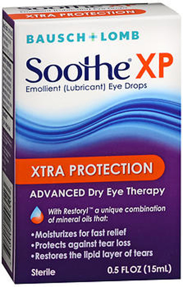 Bausch + Lomb Soothe XP Xtra Protection Emollient Eye Drops - 0.5 oz