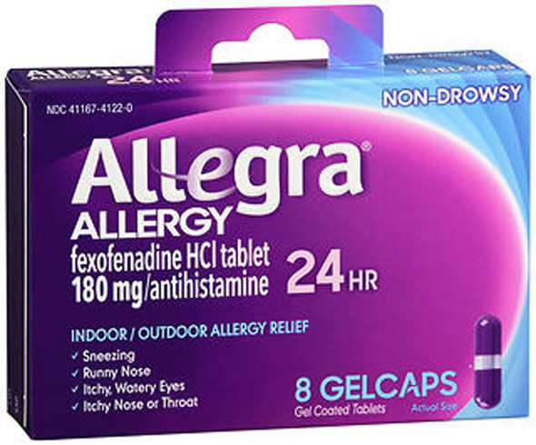 Allegra 24 Hour Allergy - 8 Gelcaps