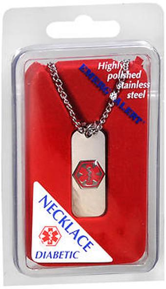 Emerg Alert Diabetic Necklace - 1 ea.
