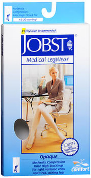 Jobst Medical LegWear Knee High 15-20 mmHg Opaque X-Large Silky Beige - 1 pr