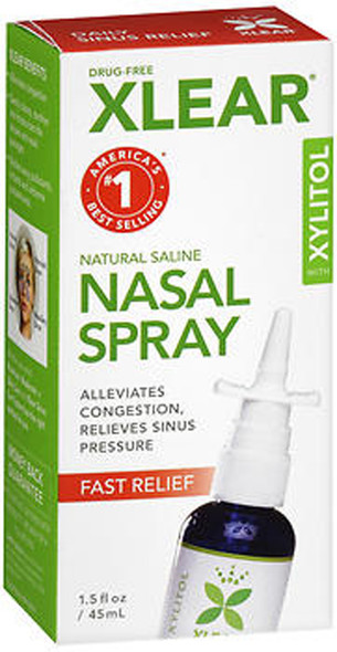 Xlear Natural Saline Nasal Spray - 1.5 OZ