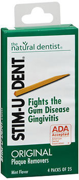 Natural Dentist Stim-U-Dent Plaque Removers Mint - 100 ct