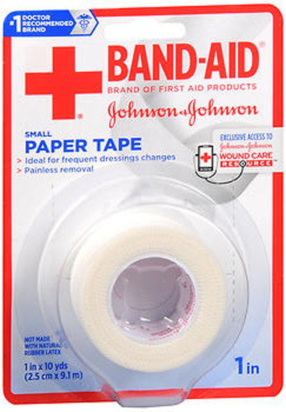 "Band-Aid Paper Tape Small 1""x10yd - 1 roll"