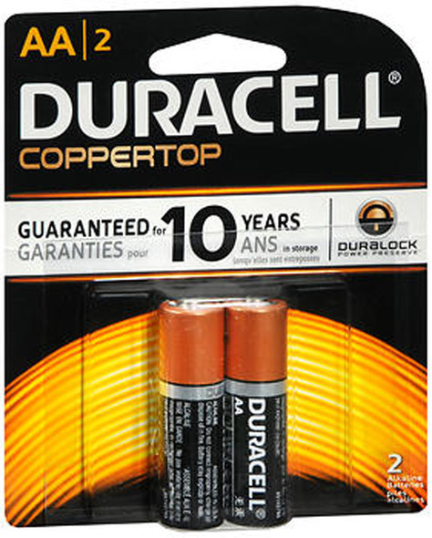 Duracell Coppertop AA Alkaline Batteries 1.5 Volt - 2 ct