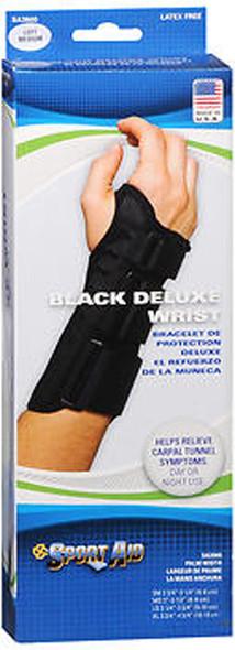Sport Aid Black Deluxe Wrist Brace Left Medium - 1 ea.
