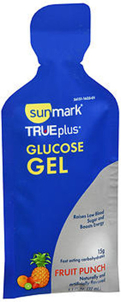 Sunmark True plus Glucose Gel Fruit Punch - 6 - 1.4 oz Packs