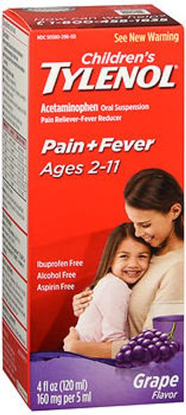Tylenol Children's Oral Suspension Grape Splash Flavor - 4 oz