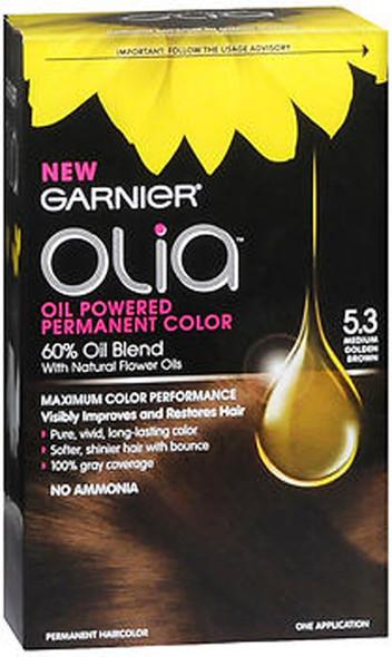 Garnier Olia Oil Powered Permanent Color 5.3 Medium Golden Brown - 1ea