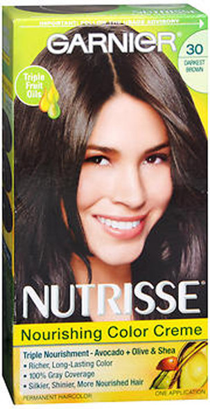 Garnier Nutrisse Haircolor 30 Sweet Cola (Darkest Brown) - 1ea