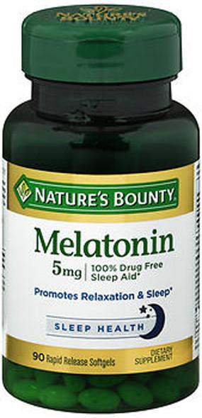 Nature's Bounty Melatonin 5 mg Super Strength- 90 Softgels