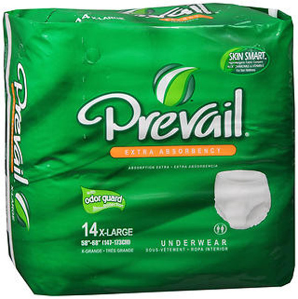 Prevail Extra Absorbency Underwear X-Large - 14 pks of 4