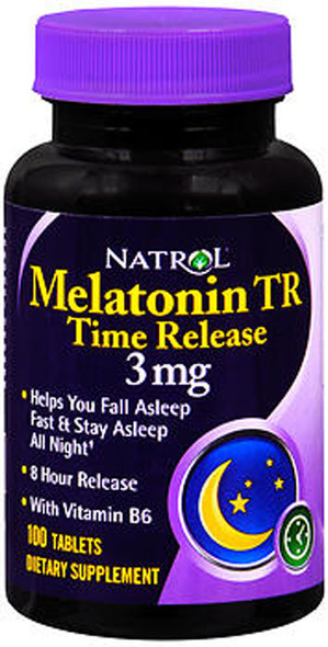 Natrol Melatonin TR Time Release 3 mg - 100 Tablets