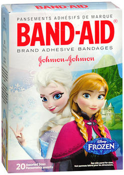 Band-Aid Adhesive Bandages Disney Frozen Assorted Sizes - 20 ct