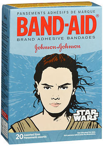 Band-Aid Star Wars Adhesive Bandages Assorted Sizes - 20 ct