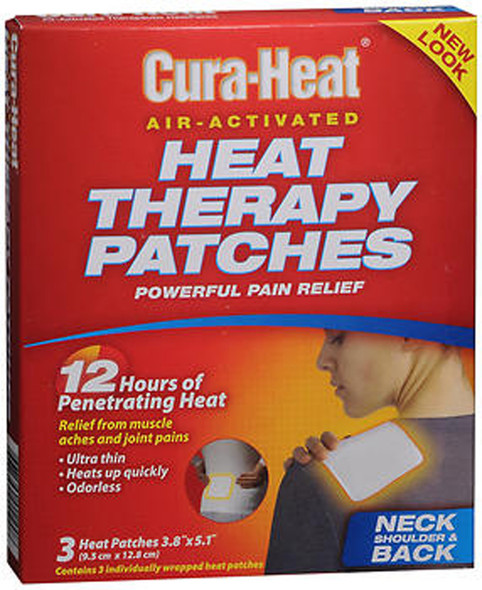 Cura-Heat Heat Therapy Patches for Neck Shoulder & Back - 3 ct