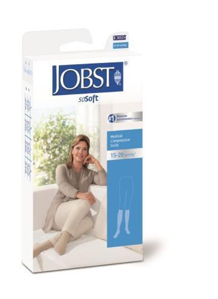 Jobst soSoft Women Brocade Knee Highs 8-15mmHg, Large, White