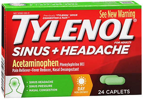 Tylenol Sinus Congestion & Pain Caplets Daytime - 24 ct