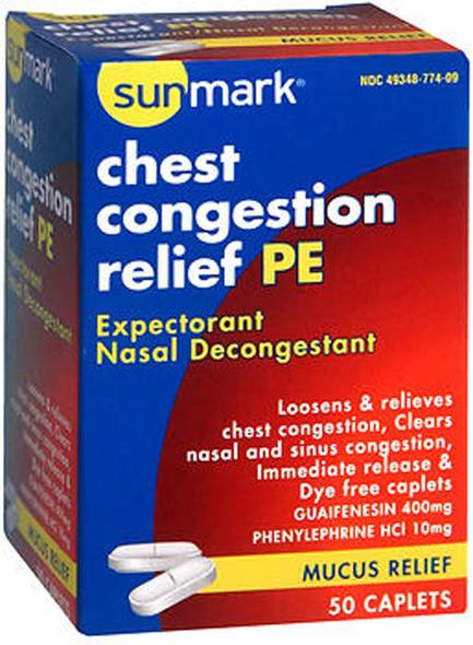 Sunmark Chest Congestion Relief PE Caplets - 50 ct