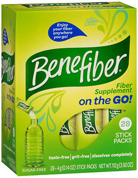 Benefiber Fiber Supplement On the Go - 28 Stick Packs
