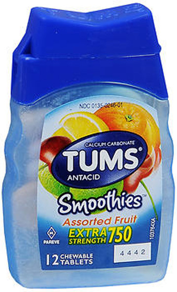 TUMS Smoothies Extra Strength 750 - 9 packs of 12