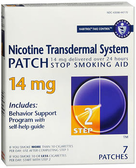 Habitrol Nicotine Transdermal System Patch 14 mg Step 2 - 7 ct
