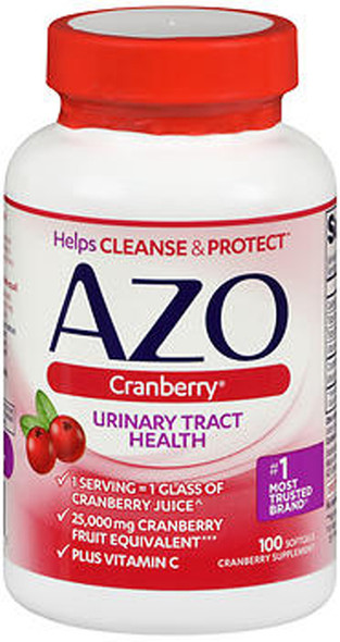 Azo Cranberry Supplement - 100 Softgels