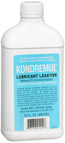 Kondremul Lubricant Laxative, Mineral Oil  16 fl oz