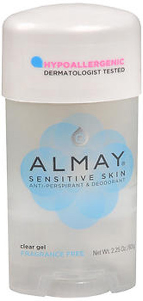 Almay Sensitive Skin, Clear Gel Fragrance Free - 2.25 oz