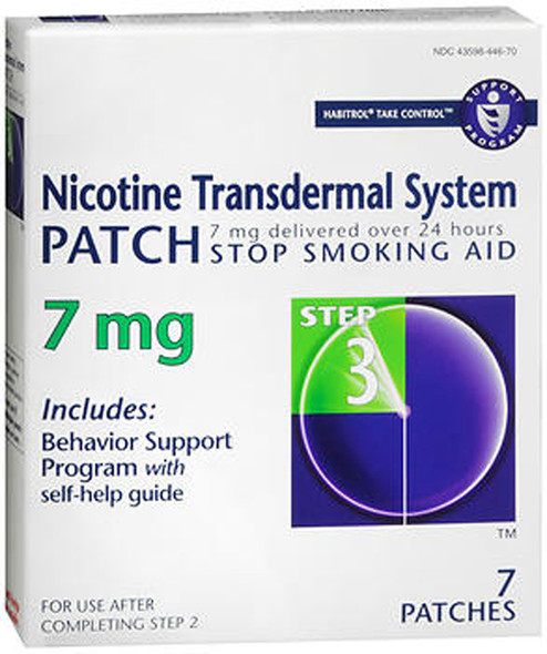Habitrol Nicotine Transdermal System Patch 7 mg Step 3 - 7 ct