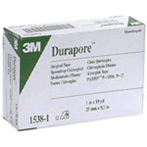 "Durapore Surgical Tape, Hypoallergenic, 1"" X 10 yrds - 12 Rolls"