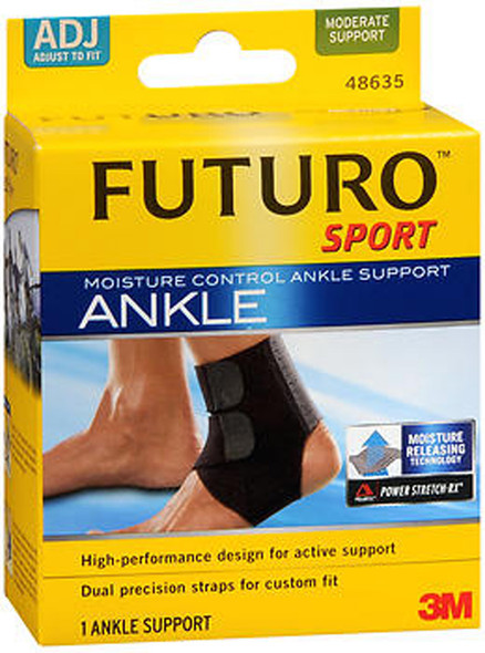 Futuro Sport Moisture Control Ankle Support Adjust To Fit