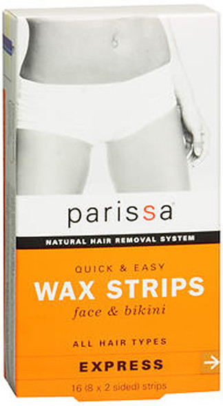 Parissa Quick & Easy Wax Strips, Face & Bikini - 16 each