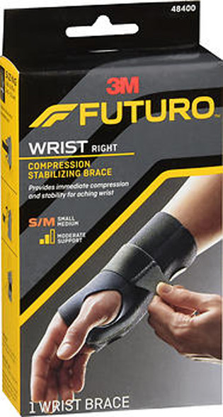 Futuro Compression Stabilizing Wrist Brace Right Moderate Support S/M 48400 - 1 each
