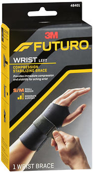 Futuro Compression Stabilizing Wrist Brace Left Moderate Support Small/Medium - 1 each