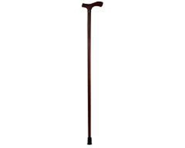 "Wooden T-Handle 1 "" Walnut Finish Walking Cane,  - Men's"