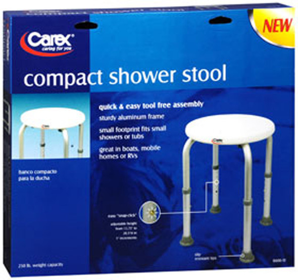 Carex Compact Shower Stool - 1 each
