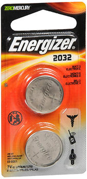 Energizer Watch Electronic Batteries 2032 - 2 pack