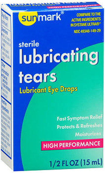 Sunmark Sterile Lubricating Tears Eye Drops - 0.5 oz