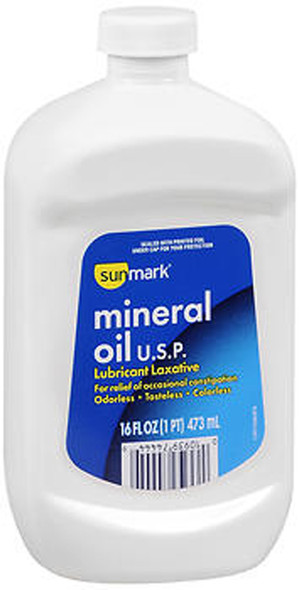 Sunmark Mineral Oil USP Lubricant Laxative - 16 oz