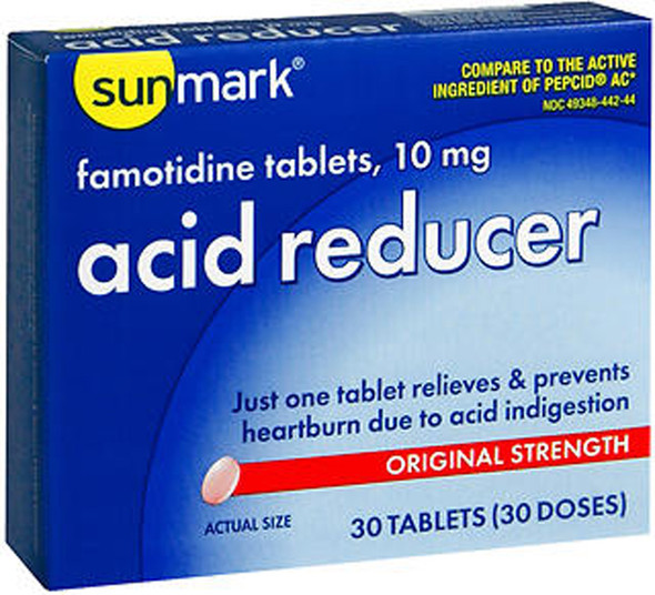 Sunmark Acid Reducer 10 mg Tablets - 30 ct